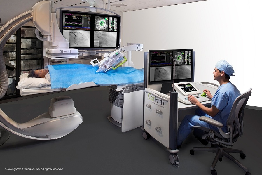 Surgeon at Core Path Console w/Patient