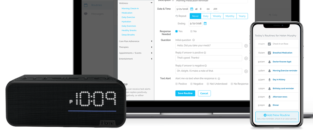 LifePod, iHome partner to launch new voice service for caregivers