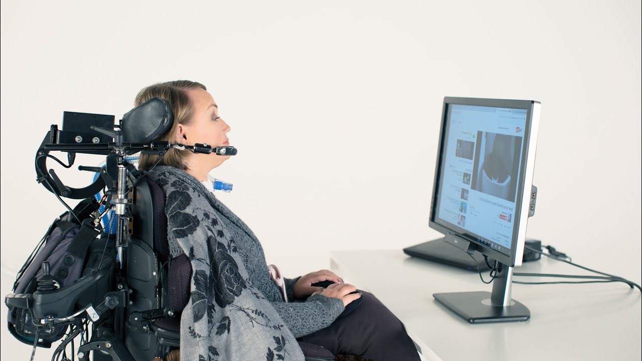 Unlike some assistive devices, eye-tracking technology requires no muscle movement at all (Credit: Tobii Dynavox)