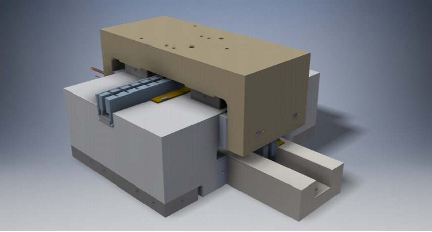 Picture shows The Mundt Air Bearing Stage (in production)