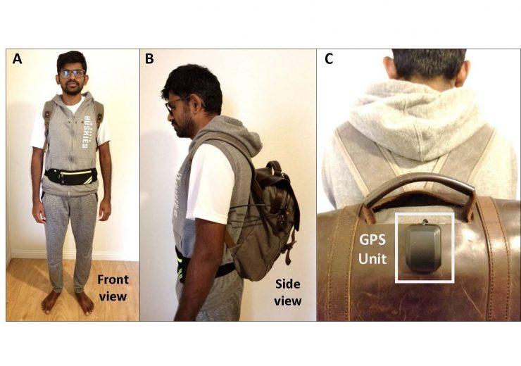 Jagadish K. Mahendran models his AI-powered, voice-activated bac