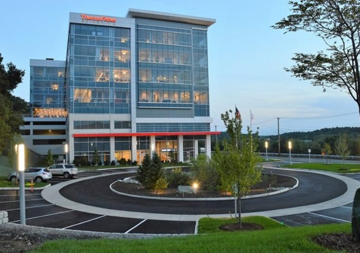 architectural details of new Thermo Fisher Scientific HQ in Waltham, MA 02451